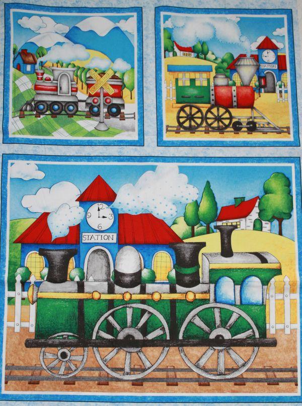 Vonatos blokkok falvédőnek