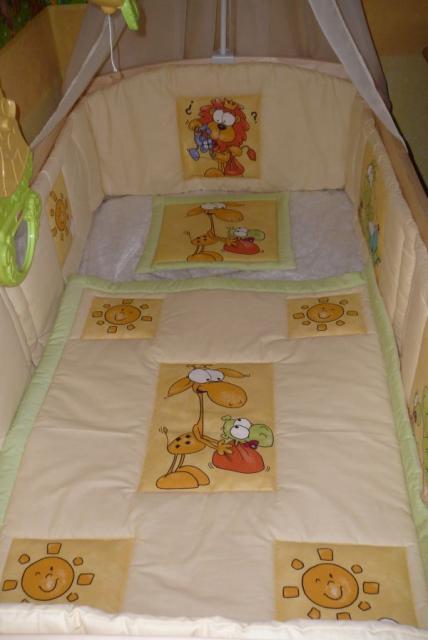 Baba, bébi takaró, fejvédő, párna ágynemű szett