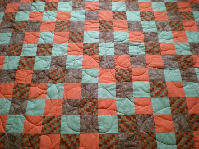 210x230 cm patchwork ágytakaró.